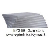 Putų polistirolas EPS 80 3cm (m2)